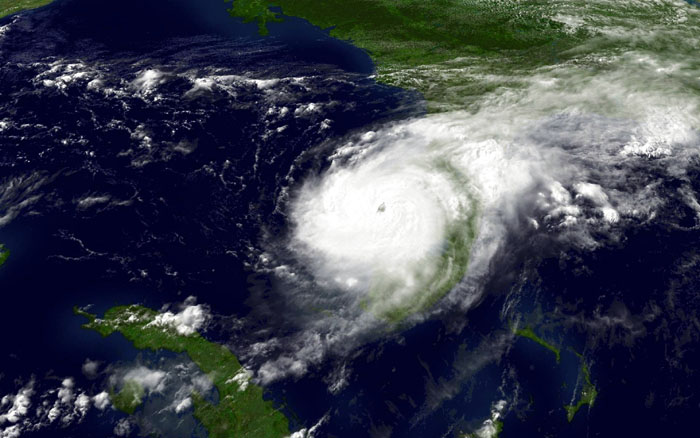 Satellite image of Hurricane Charley